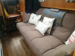 New sofa bed, stylish and comfortable.